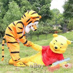Winnie L'ourson Et Costume Tigger Mascotte Adulte Robe De Bande Dessinée Costume De Défilé De Noël