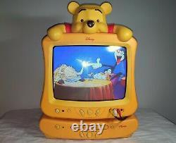 Winnie L'ourson Lecteur DVD Tv Combo Vintage Walt Disney Rare Collectables