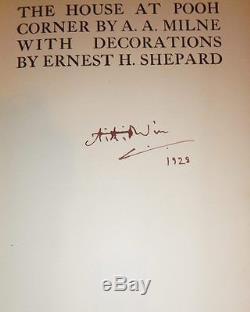Winnie L'ourson Livres, Quatre, Signé Et Avec Des Vestes Originales