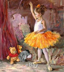 Winnie L'ourson Mon Premier Public Tigrou Bourriquet Irene Sheri Le 95 24x20 Toile
