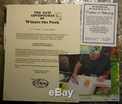 Winnie L'ourson Production Originale Disney Cel Signé Dessin Jim Cummings Coa