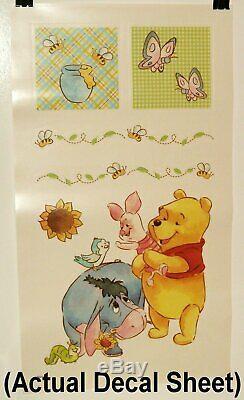 Winnie L'ourson Set Happy Days 12pc Lit De Bébé, Couverture, Stickers Muraux, Coussin