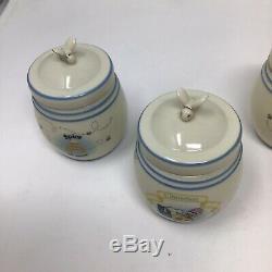 Winnie L'ourson Spice Jar Set Lenox Disney 24 Jars 1 Rack Nouveau En Boîtes Tous