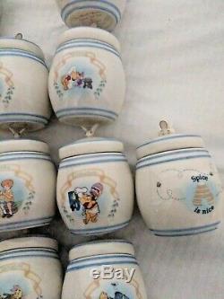 Winnie L'ourson Spice Jar Set New Lenox Disney 24 Pièces