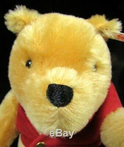 Winnie L'ourson Steiff Articulé Animal En Peluche Dans Orig Box Ltd Ed # 2277/10000