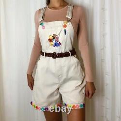 Winnie Le Pooh Brodé Short Vintage De Dungarees