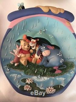 Winnie The Pooh Ensemble De 4 Assiettes Honeypot Adventure De Bradford Exchange Pooh