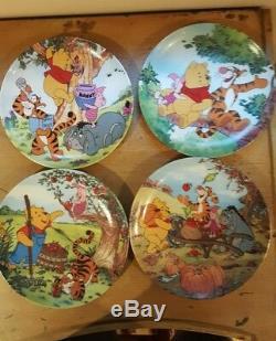 Winnie The Pooh Fun Dans 100 Acre Woods Bradford Exchange Assiettes Set Complet 12