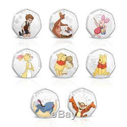 Winnie The Pooh - Pack Complet De Pièces De Collection 02 En Forme D'édition Limitée En Forme De 50 Pièces